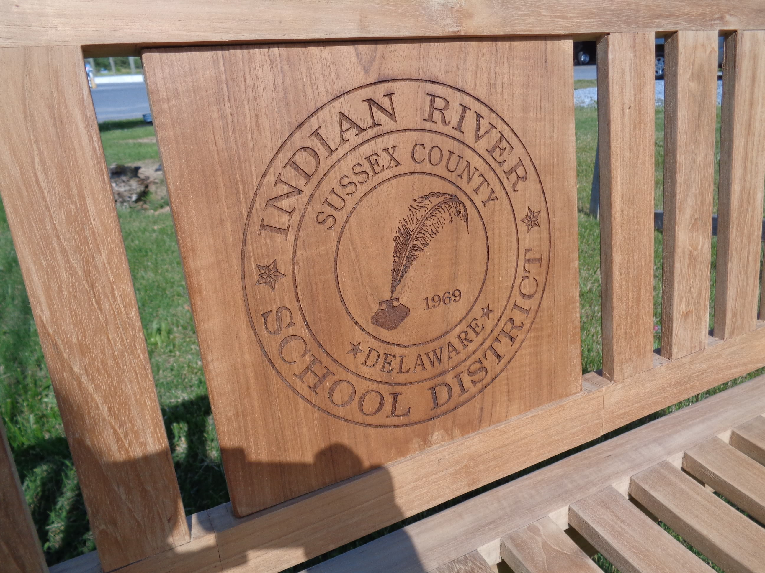Personalized Teak Bench