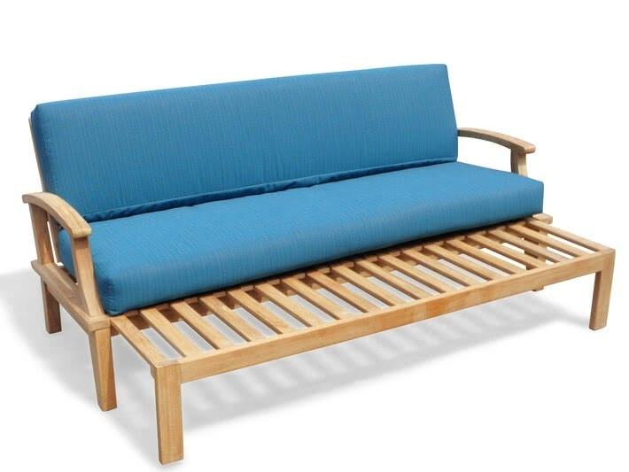 Deep Seating Teak Pullout Sofa