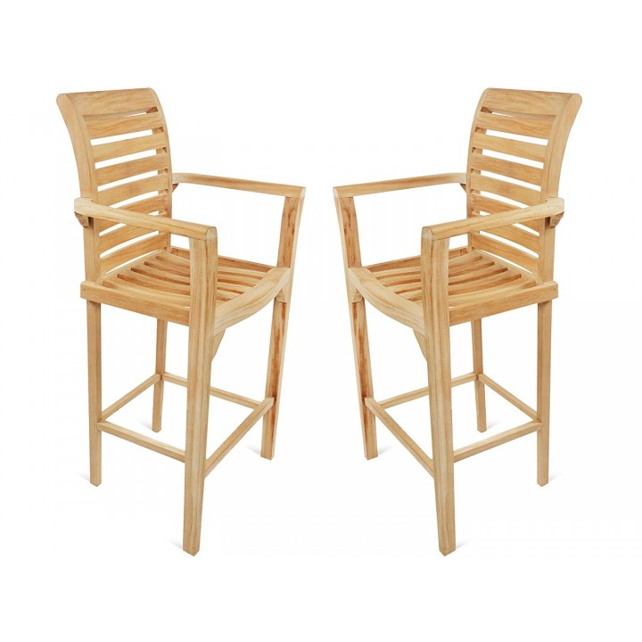 Fabulous St Moritz Teak Counter Arm Chair 2 Pack Machost Co Dining Chair Design Ideas Machostcouk