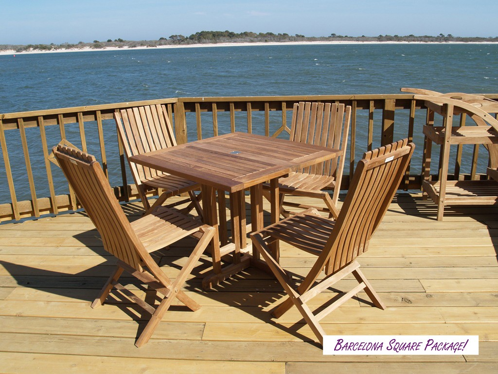 """Barcelona 35"""" Square Drop Leaf Teak Table...use with 1 Leaf Up or 2.... Makes 2 different tables"""