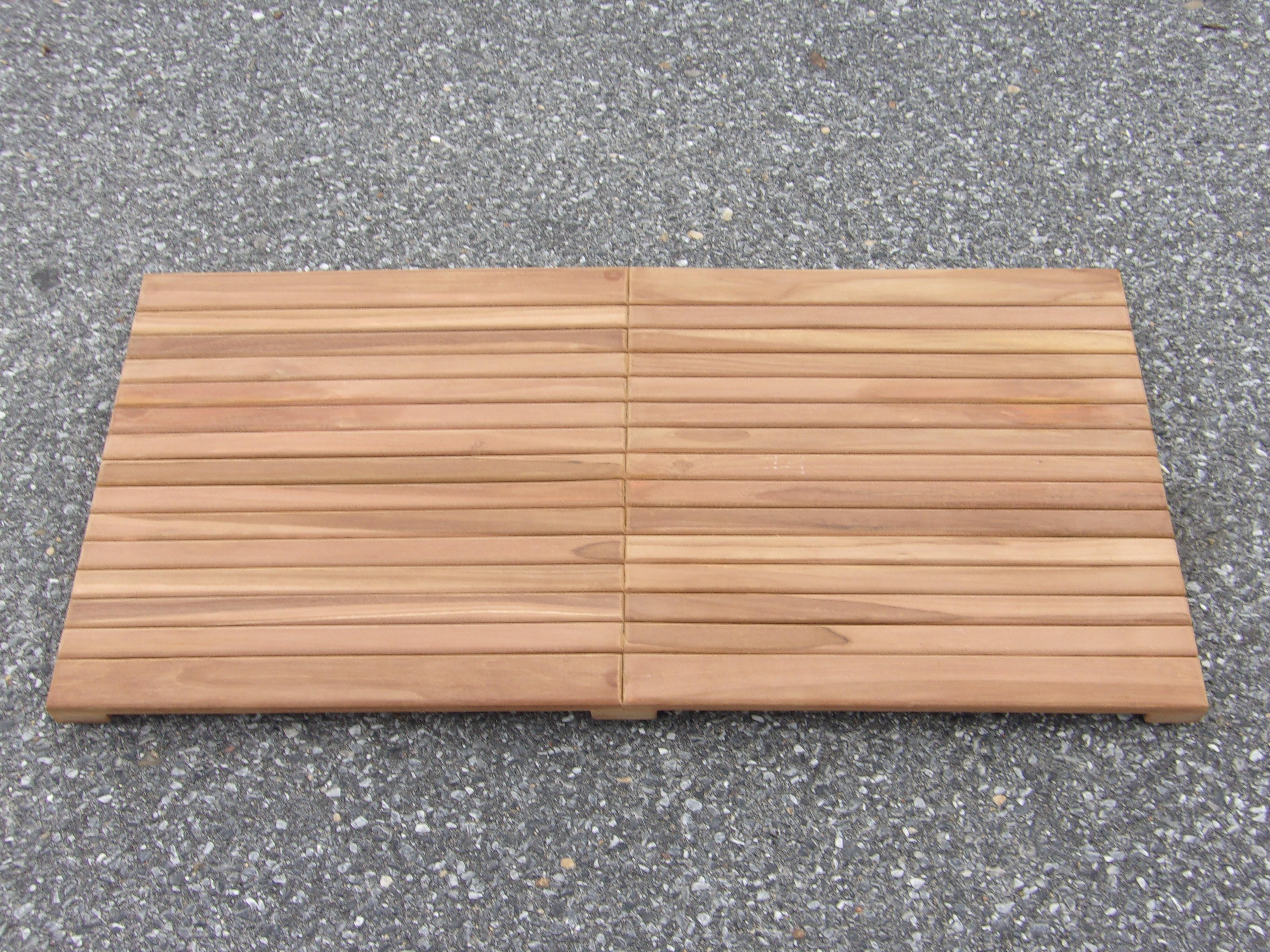 """Indoor/Outdoor Teak Shower Mat...25"""" x 18"""" X 1.5"""" 7 lbs....Perfect for Decks, Saunas, Bath Rooms, Yards, etc"""