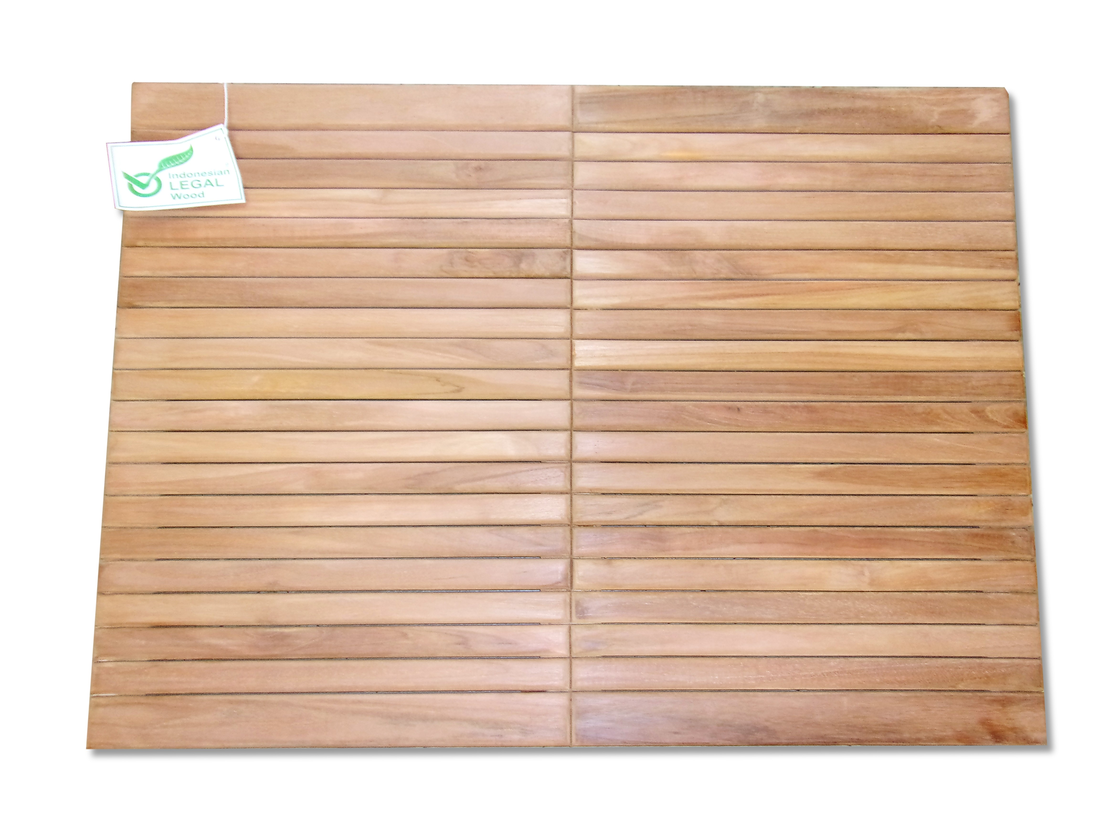 """Indoor/Outdoor Teak Shower Mat...36"""" x 26"""" X 1.5"""" 12 lbs....Perfect for Decks, Saunas, Bath Rooms, Yards, etc"""