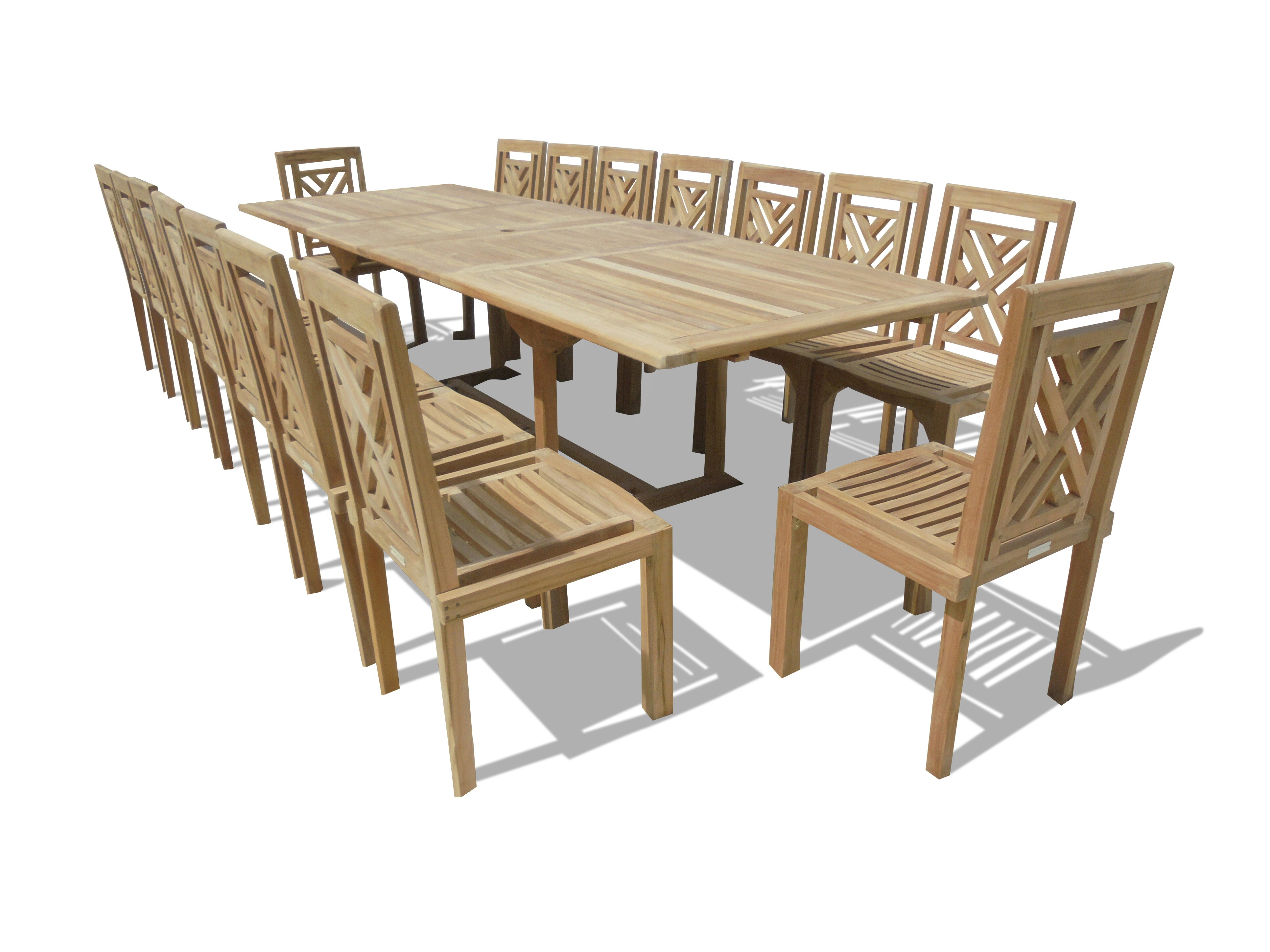 """Buckingham 138"""" x 39"""" Rectangular Double Leaf Extension Table...Seats 16 Adults....makes 3 Different Size Tables"""