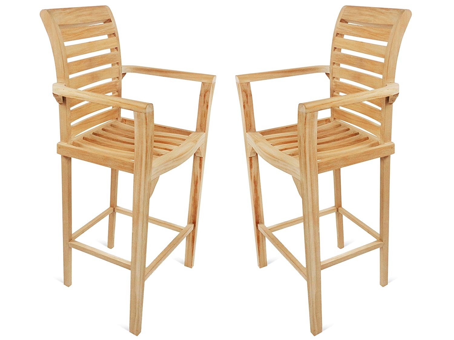 St. Moritz Teak Bar Arm Chair. 2 Pack