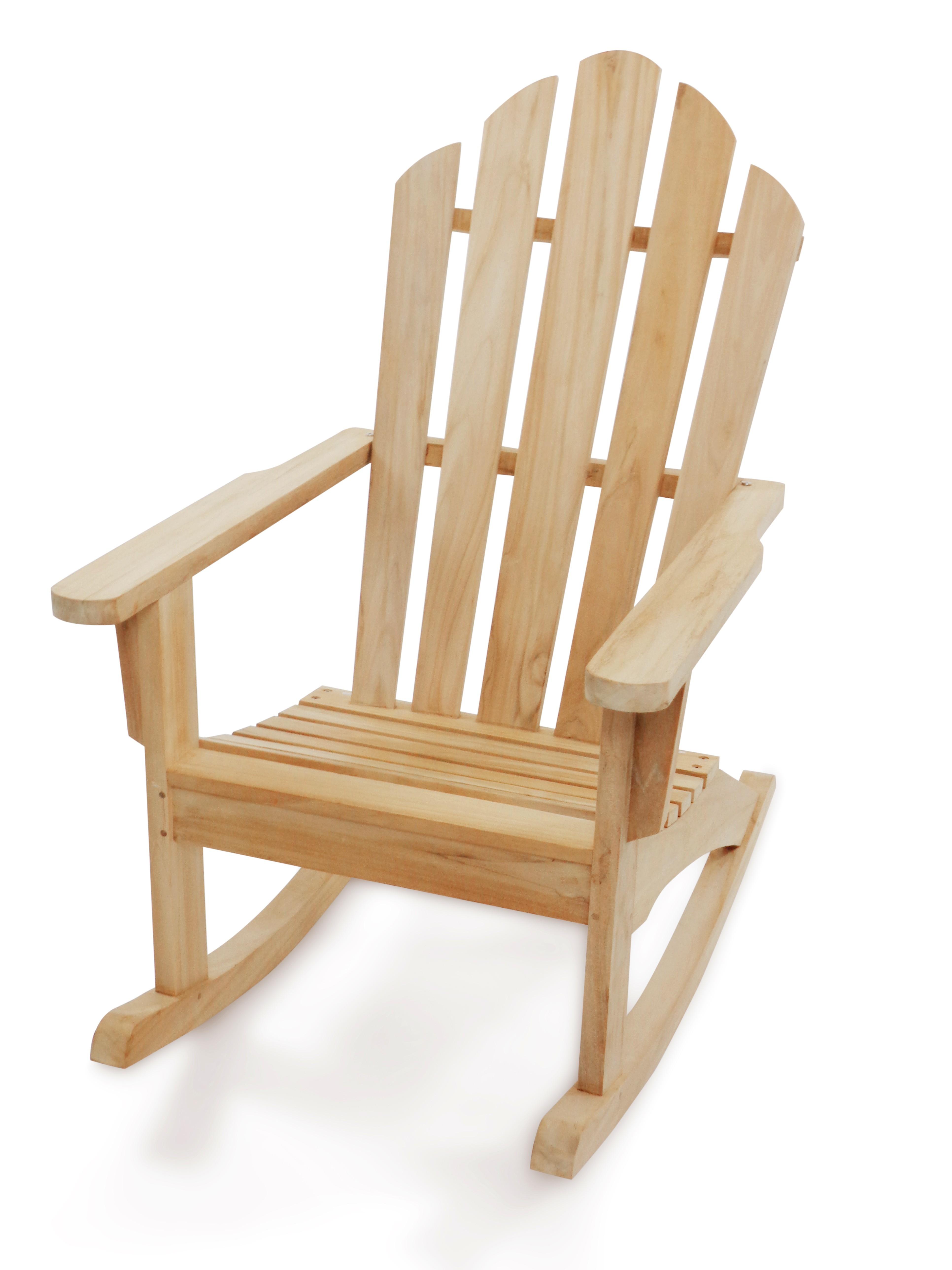 Windsor's Premium Grade A Teak Classic Adirondack Rocking Chair