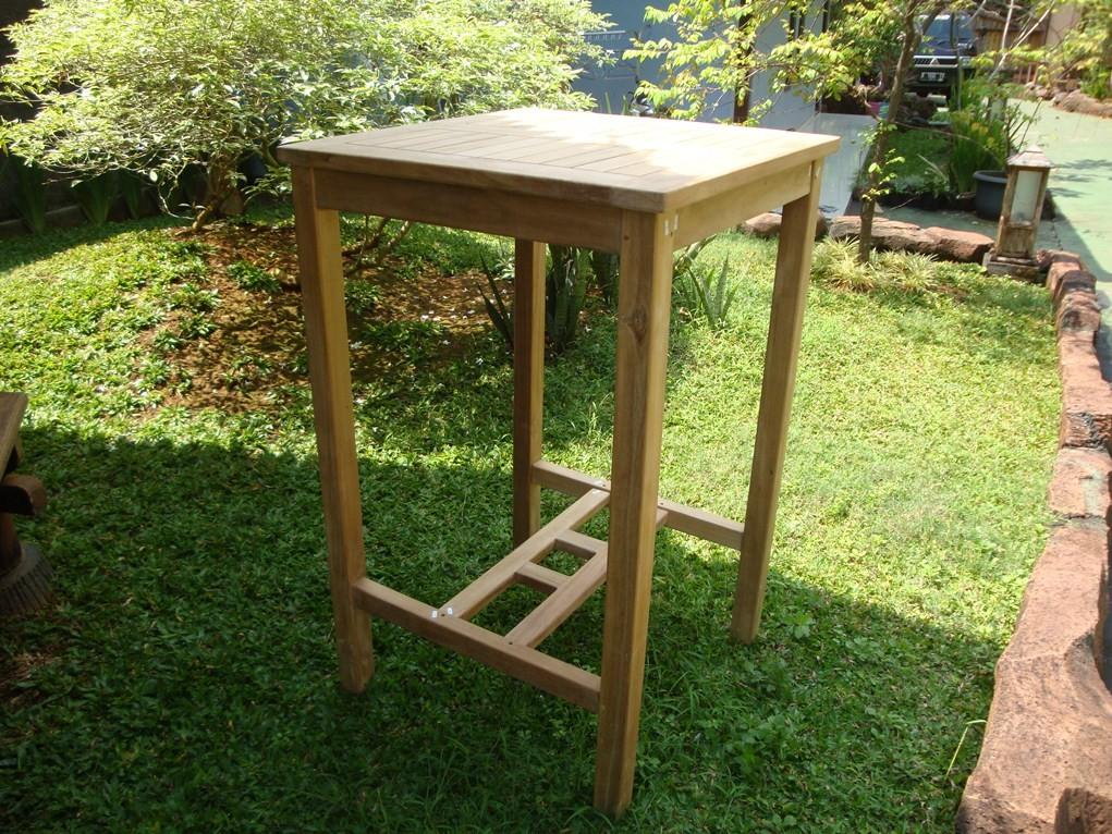 "Avalon 27"" Square Bar Teak Table"