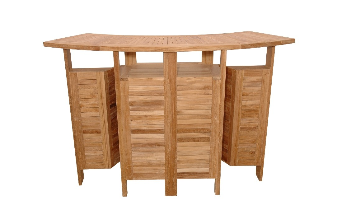 Grand Cayman Folding Teak Bar Table