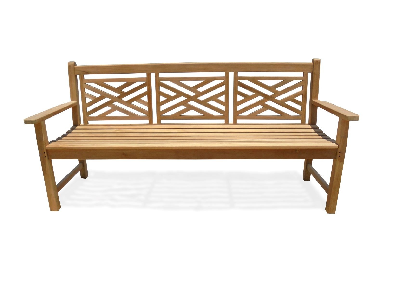 """72"""" Chippendale 4 Seater Teak Bench"""