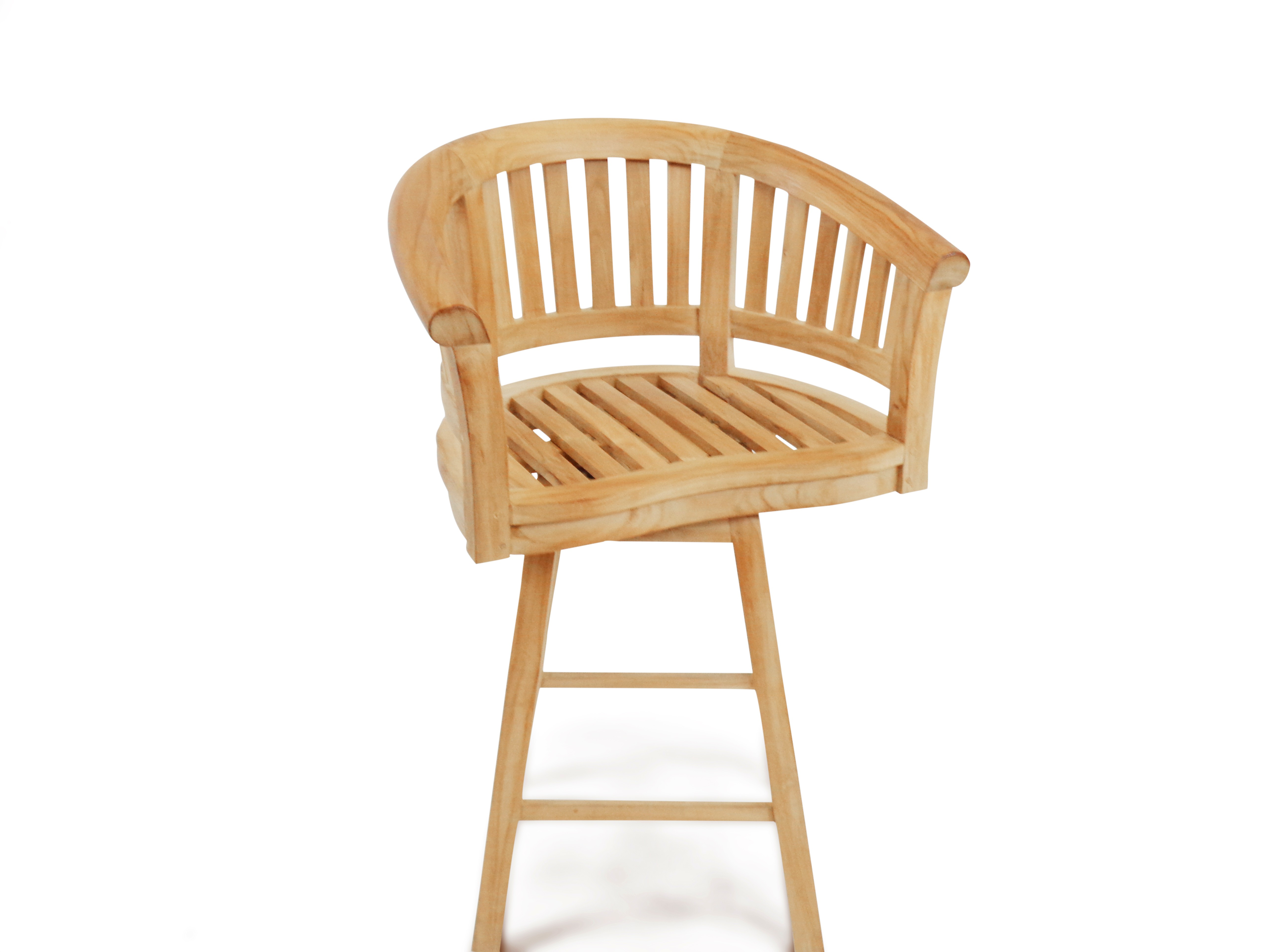 Kensington Swivel Curved Teak Arm Bar chair