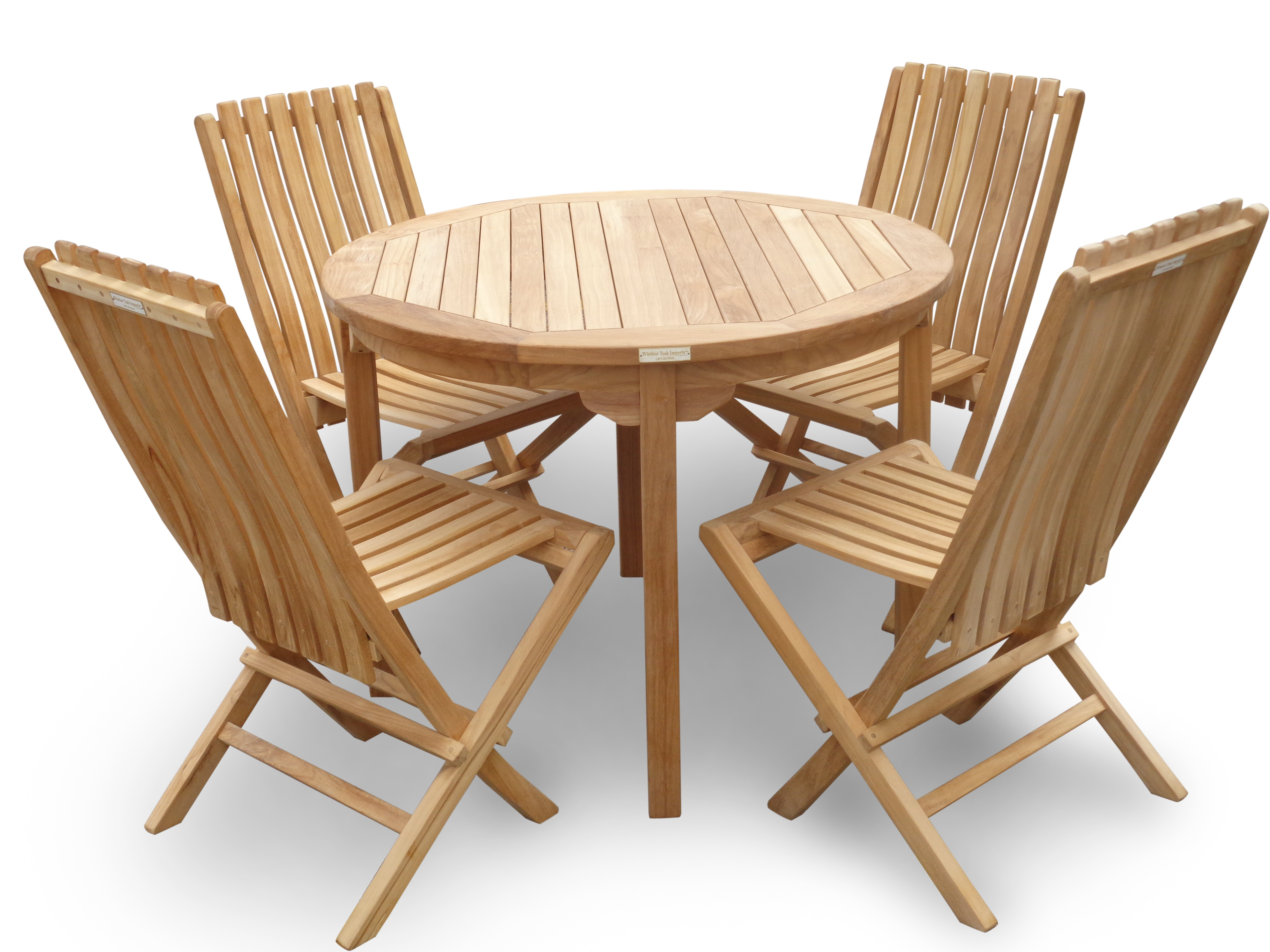 """Cannes 39"""" Round Teak Dining Table"""