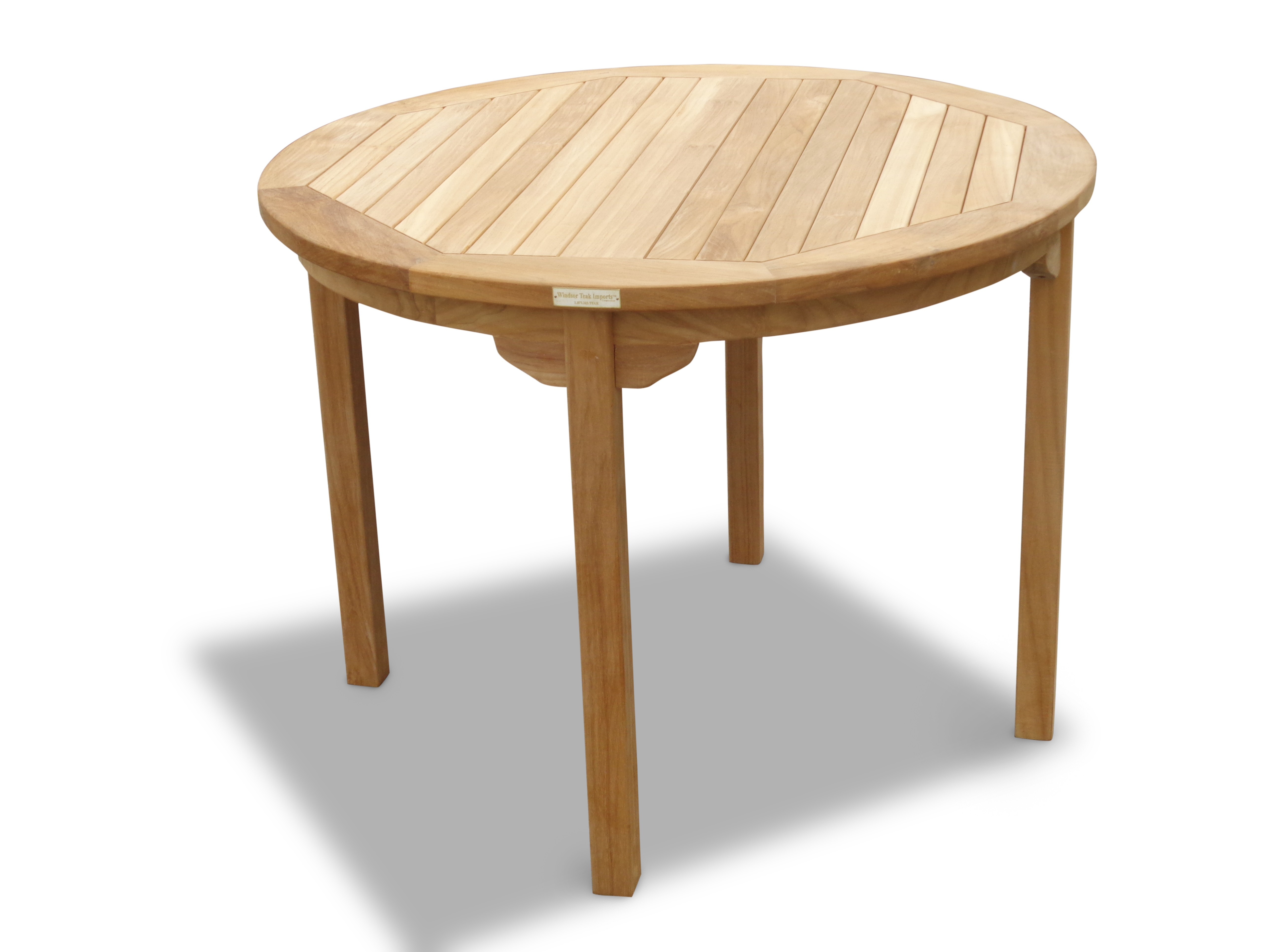 "Cannes 39"" Round Teak Dining Table"