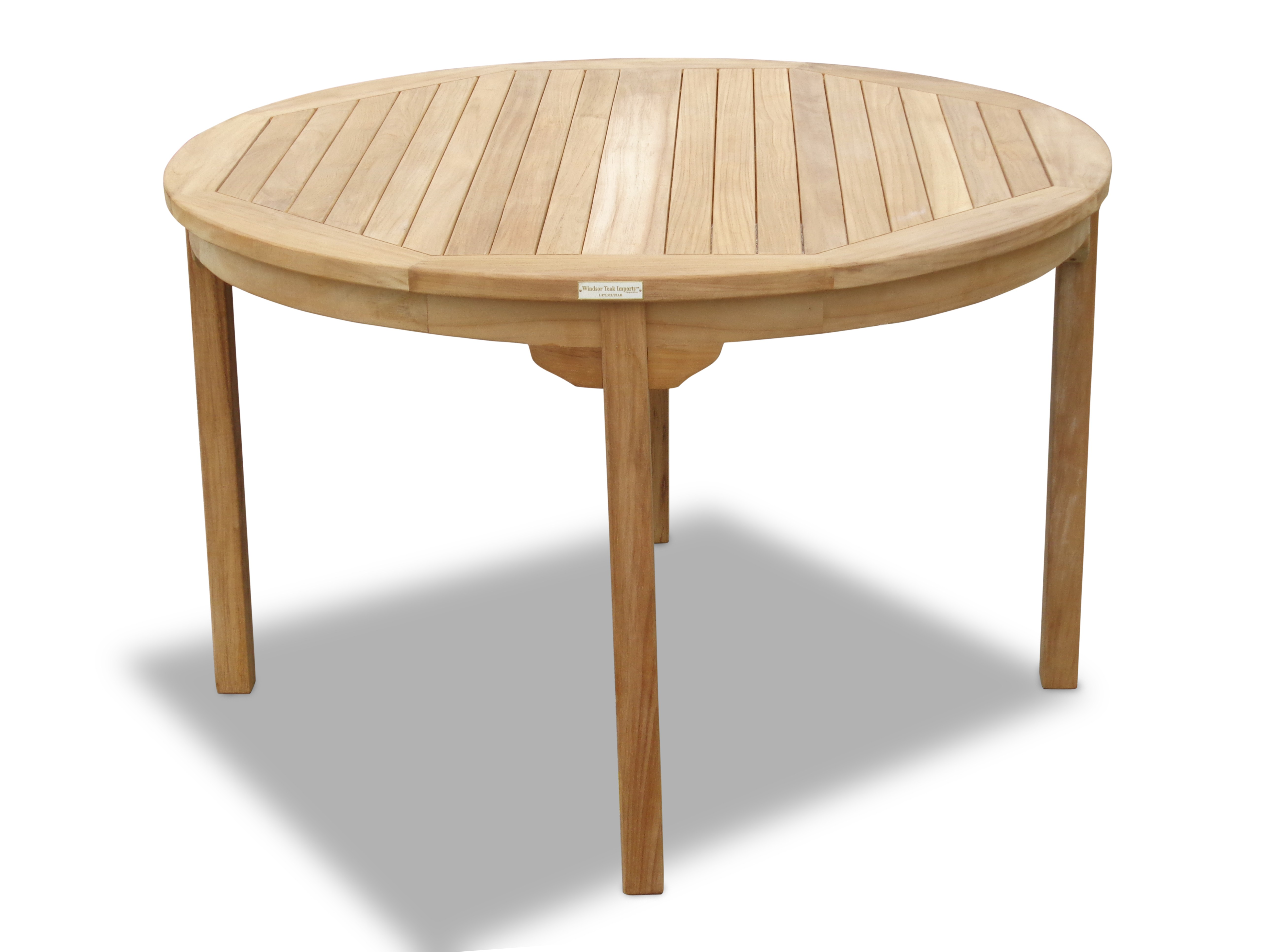 "Cannes 47"" Round Teak Dining Table"