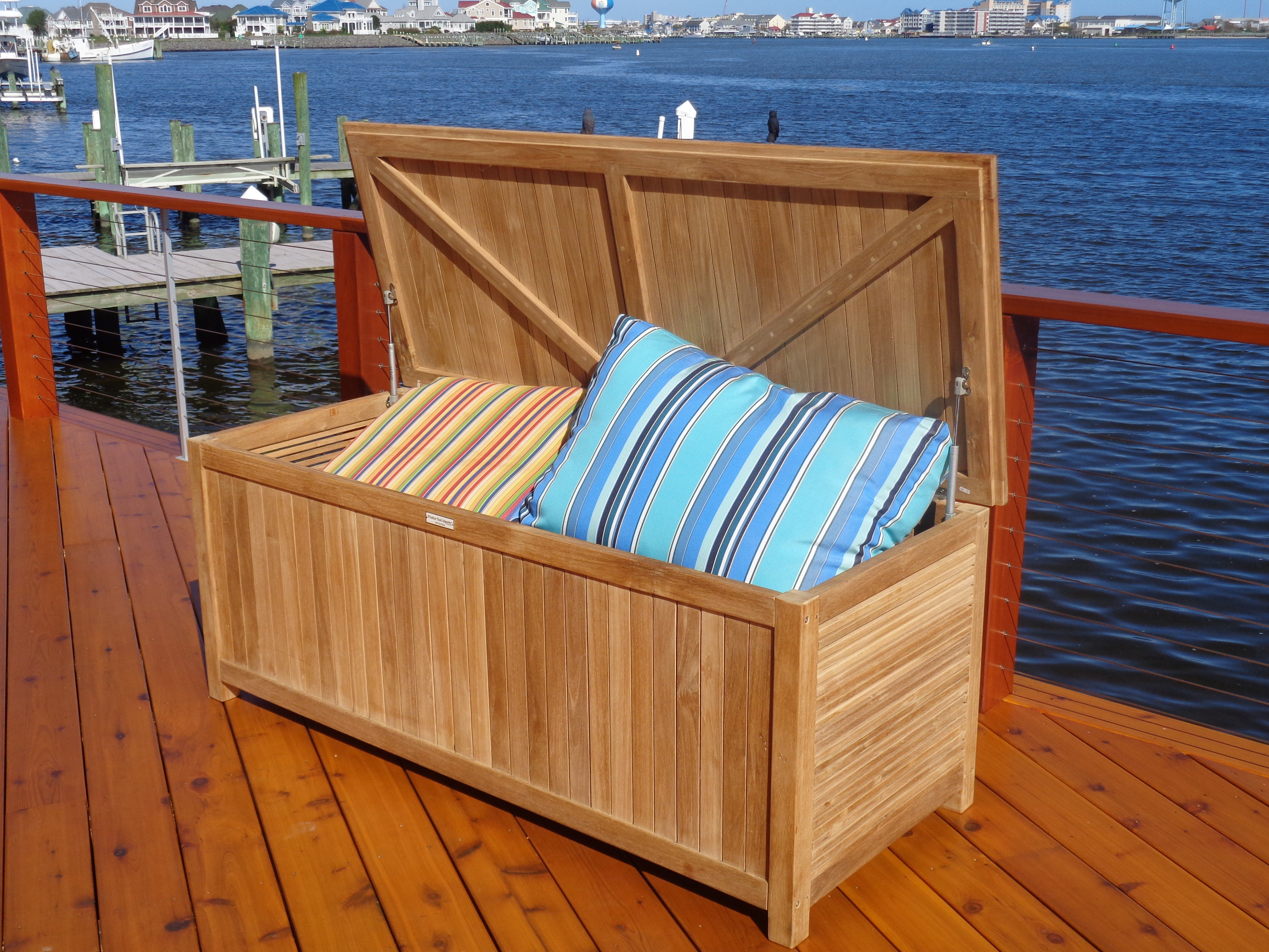 "Nantucket Teak Storage Chest 59"" x 24"""