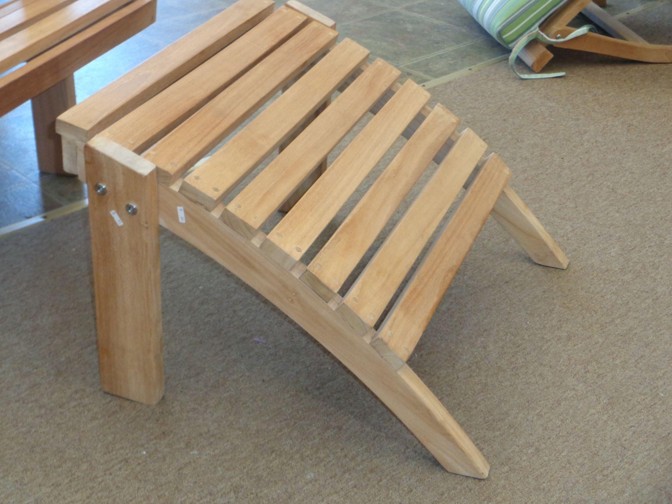 Grade A Teak Adirondack Ottoman / Footrest