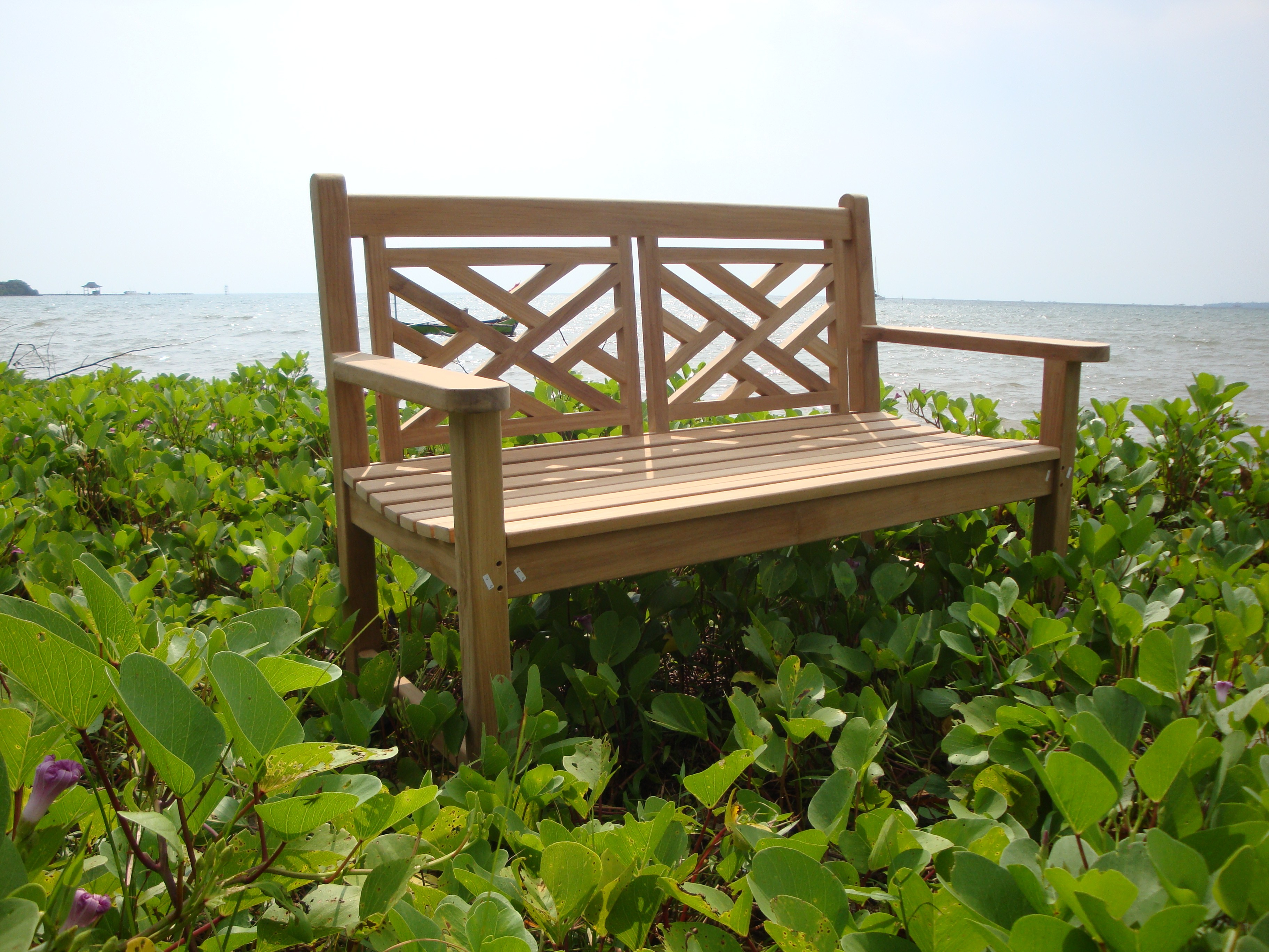 """48"""" Chippendale 2 Seater Teak Bench"""