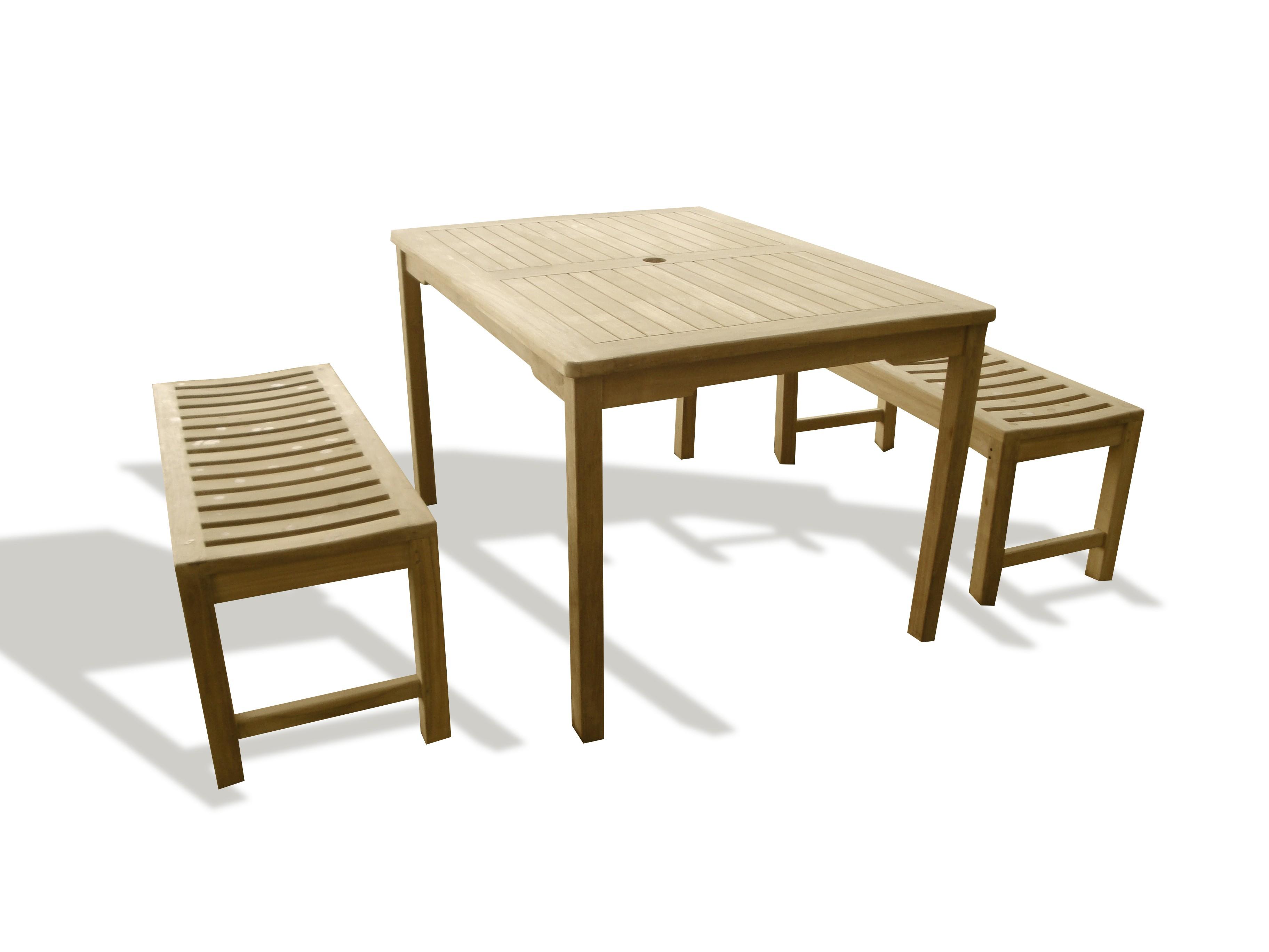 "Cannes 48"" x 35"" Rectangular Teak Dining Table"