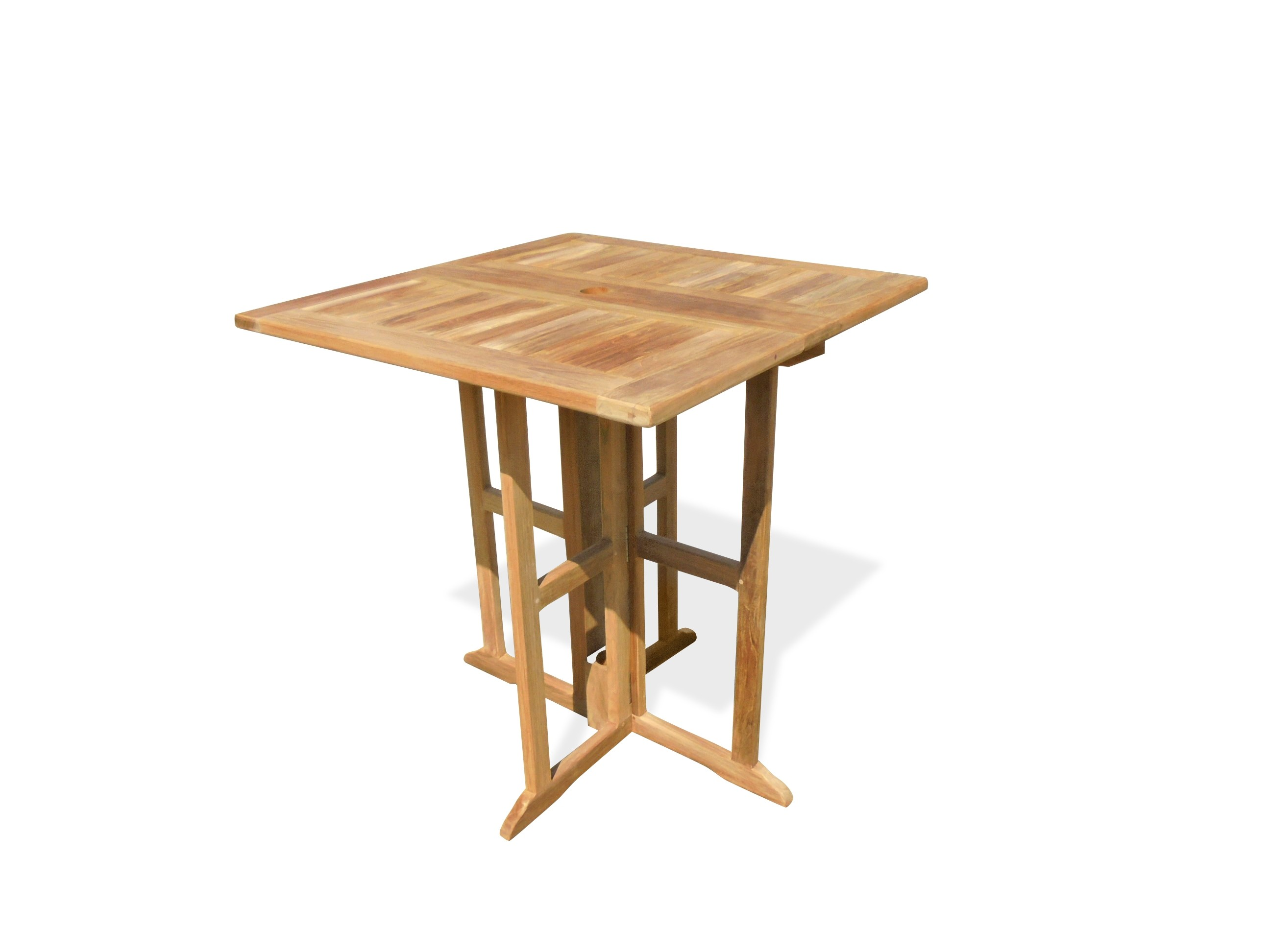 """Bimini 35"""" Square Drop Leaf Folding Counter Table ...use with 1 Leaf Up or 2.... Makes 2 different tables!"""