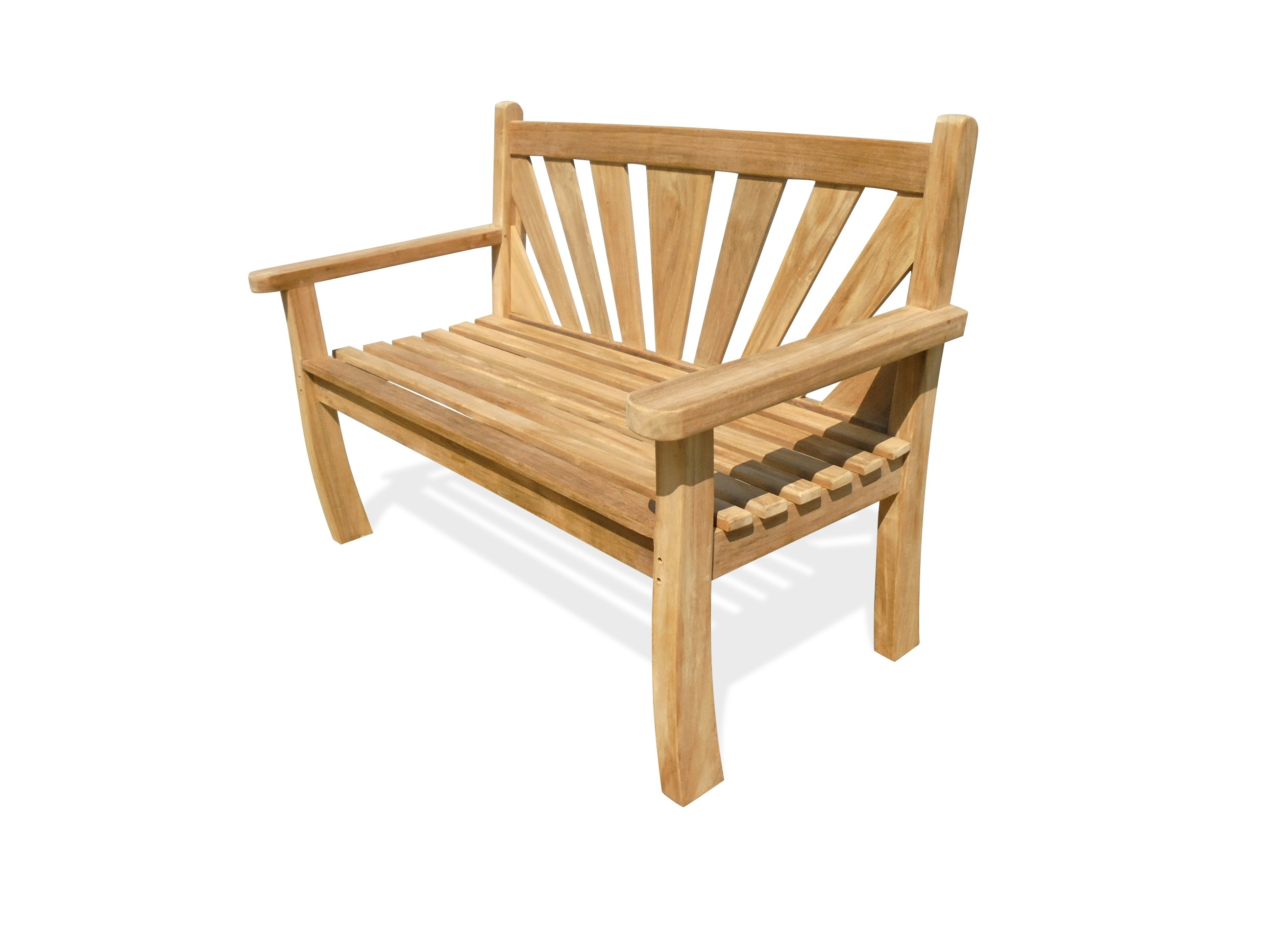 "A Windsor Exclusive ...... ""Sunburst"" Design Teak Bench 2 Seater"