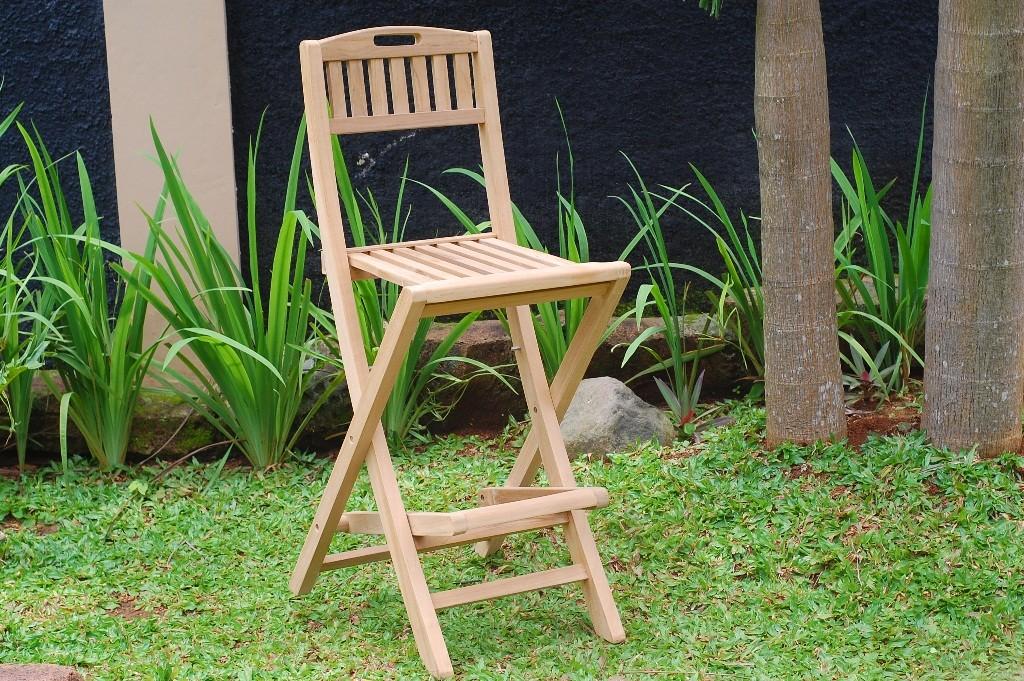 "Mallorca Teak Folding Counter Chair (Counter height is 5"" lower than bar)"