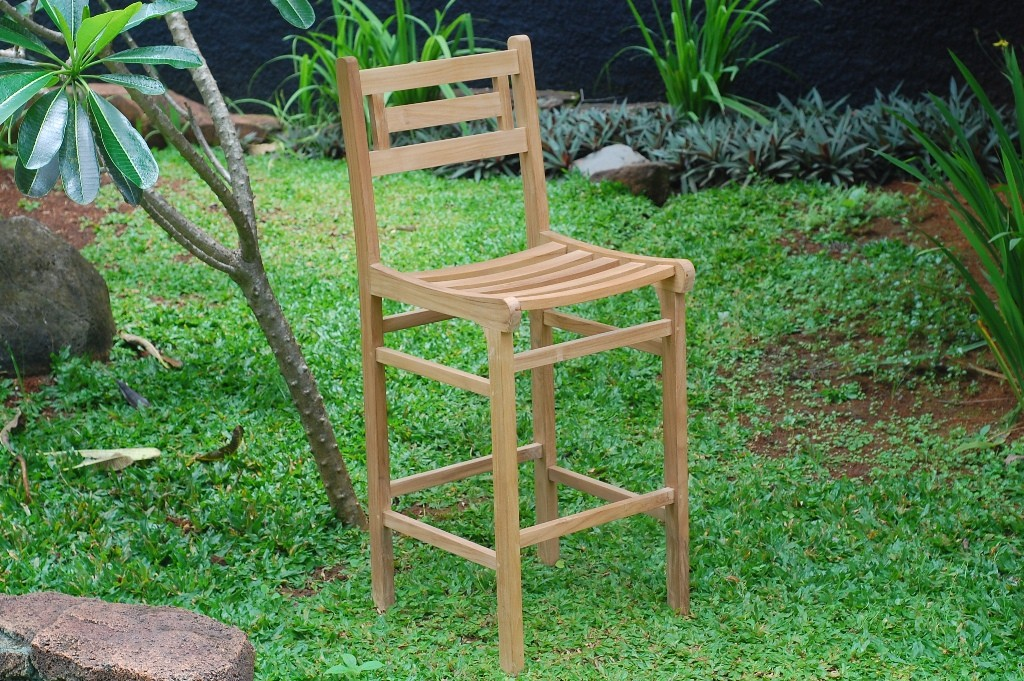 "Seville Teak Counter Chair (Counter height is 5"" lower than bar)"