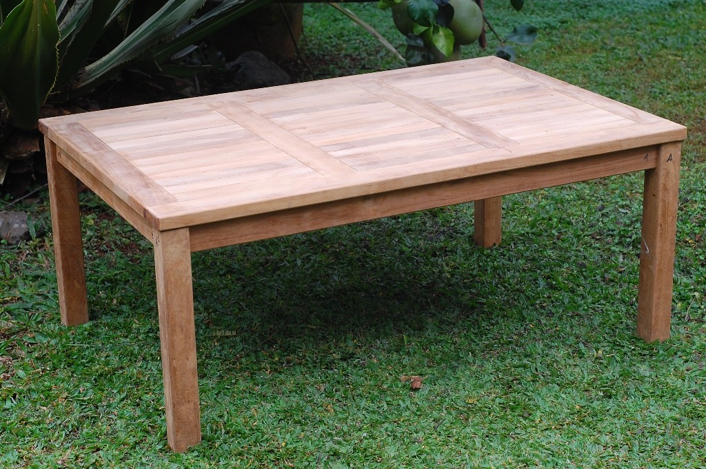 "Cape Cod Rectangular 47"" x 31"" Teak Coffee Table"