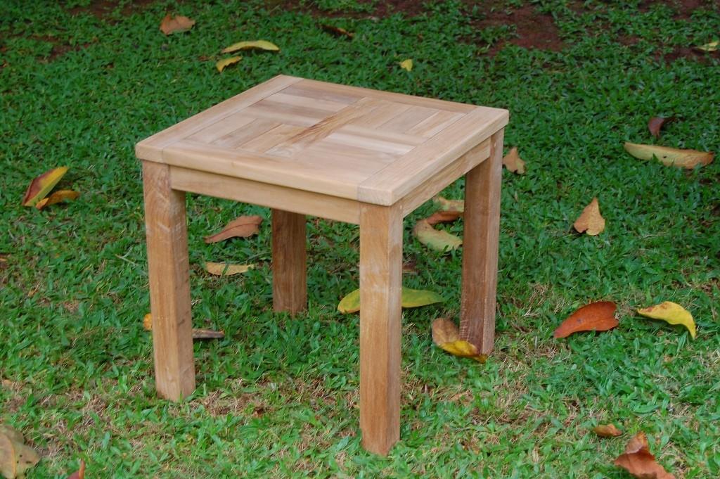 "Cape Cod Square 20"" Side Teak Table"