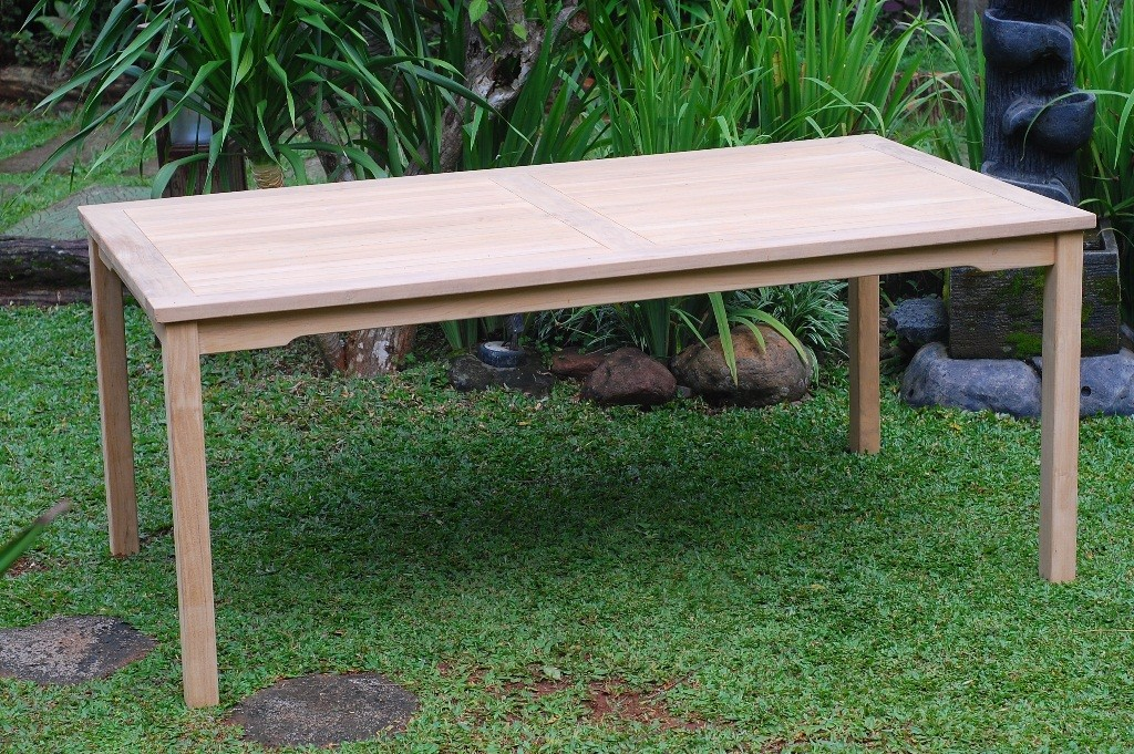 "Cannes 82"" x 35"" Rectangular Teak Dining Table"