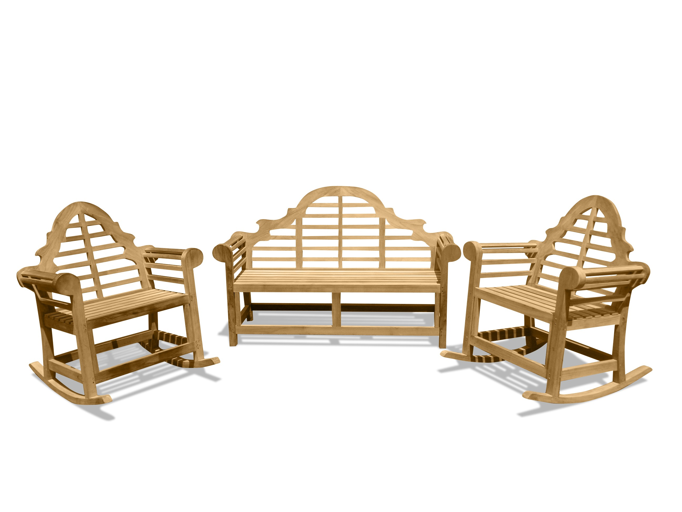 Lutyens 3-Seater Bench & 2 Single Rockers