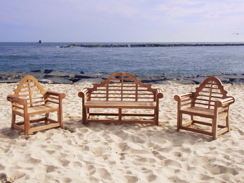 Lutyen Collection - Bench + 2 Armchairs