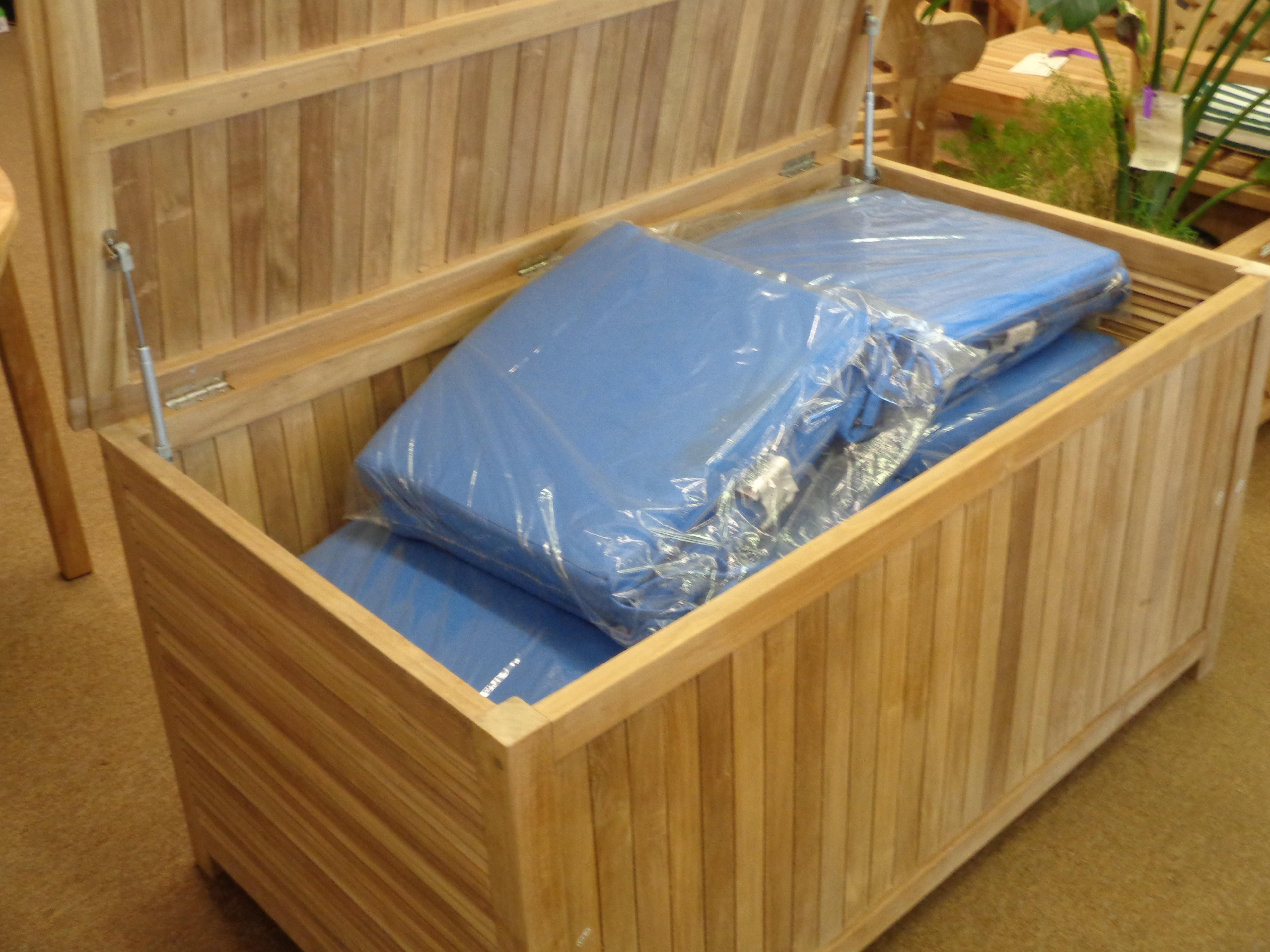 "Nantucket Teak Dock Box / Storage Chest 53"" x 30.5"" / 120 lbs of Grade A Teak"
