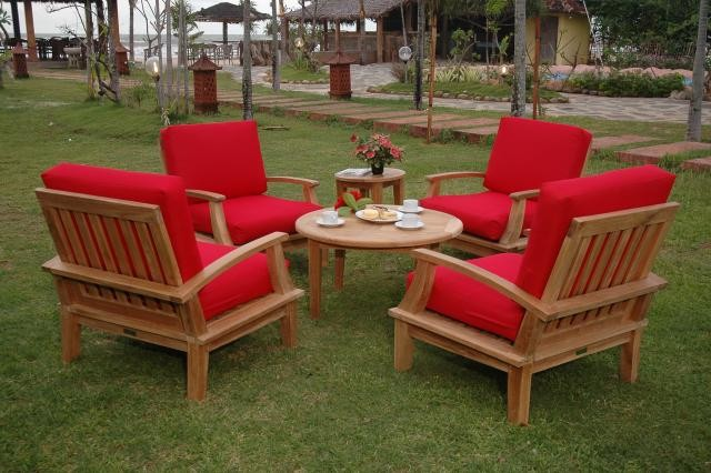 Portofino Deep Seating 6 Pc Armchair Set, w Sunbrella Cushions
