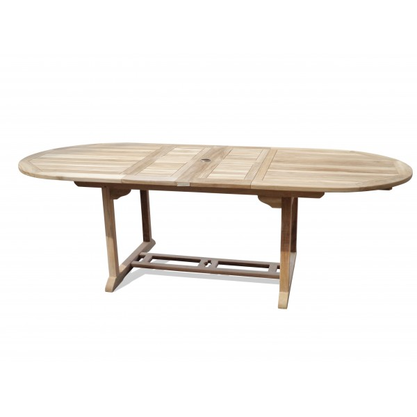 "Buckingham 108"" x 39"" Oval Double Leaf Teak Extension Table...Seats 12...makes 3 Different Size Tables"
