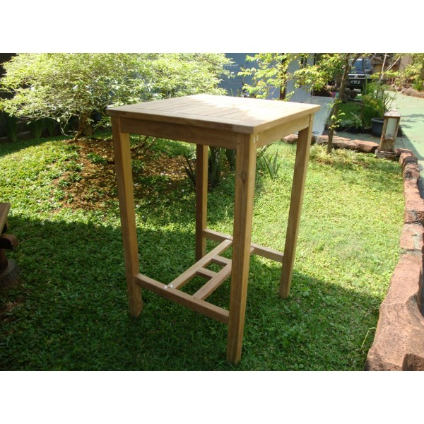 "Avalon 27"" Square Bar Teak Table"