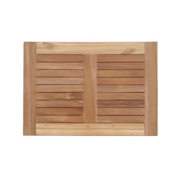 "Indoor/Outdoor Teak Shower Mat...20"" x 14"" X 1.5"" 4 lbs....Perfect for Decks, Saunas, Bath Rooms, Yards, etc"