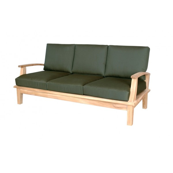 Portofino Deep Seating Teak Sofa w/ Sunbrella Cushions