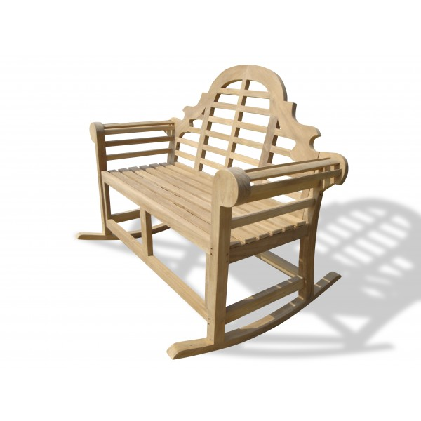 Lutyens Teak Double Rocking Chair