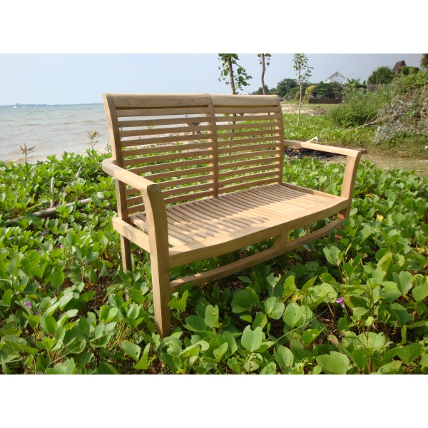 "48"" Casa Blanca Teak 2 Seater Stacking Bench"