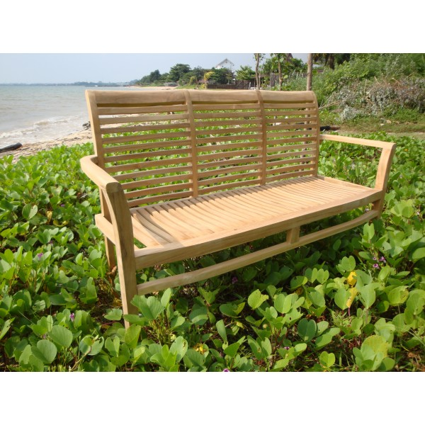 "59"" Casa Blanca Teak 3 Seater Stacking Bench"