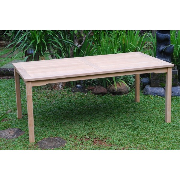 "Cannes 59"" x 35"" Rectangular Teak Non Folding Dining Table"