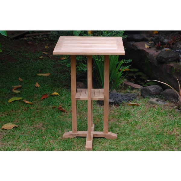 "The San Remo 27"" Square Teak Bar Table"