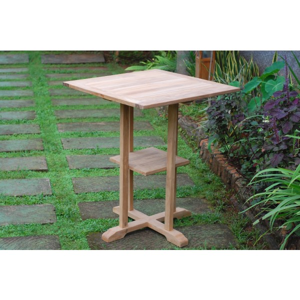 "The San Remo 35"" Square Teak Bar Table"