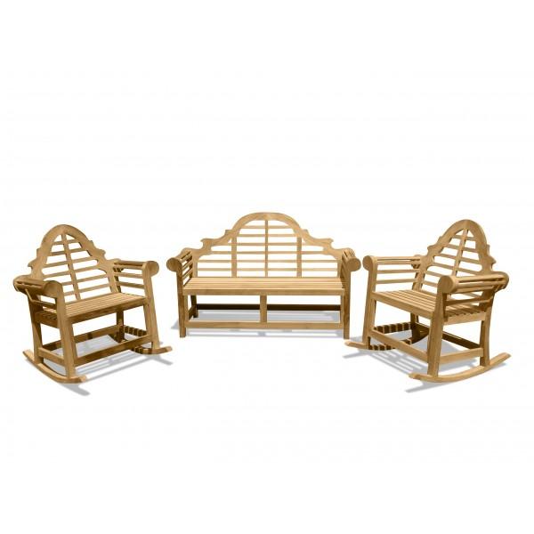 Lutyens 3-Seater Bench & 2 Single Rockers