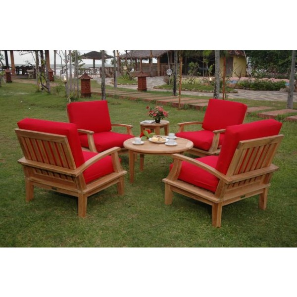 Portofino Deep Seating 6 Pc Armchair Set, w Sunbrella Cushions