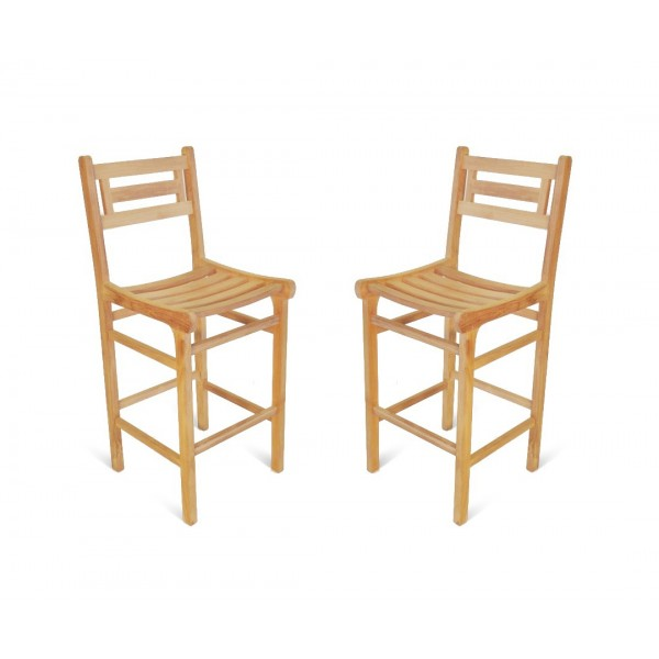 Seville Teak Bar Chair. 2 Pack