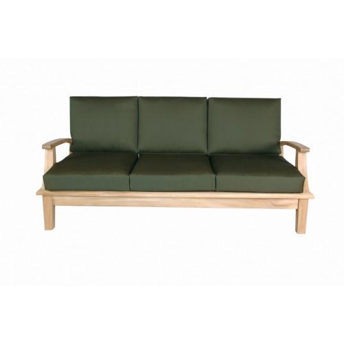 Portofino Deep Seating Teak Sofa w/ Sunbrella Cushions