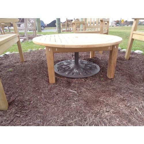 Hyannis Port Round 40 Teak Coffee Table W Umbrella Hole
