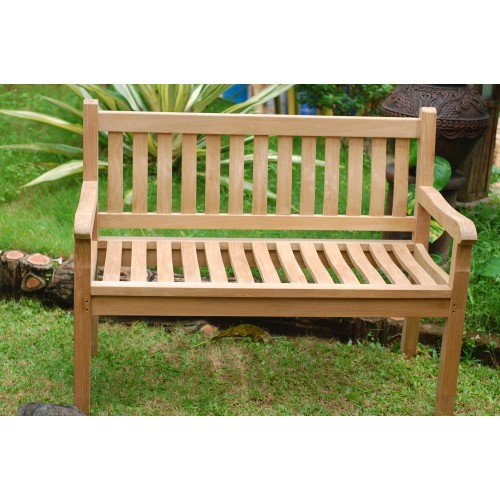 48 Windsor Teak Bench 2 Seater
