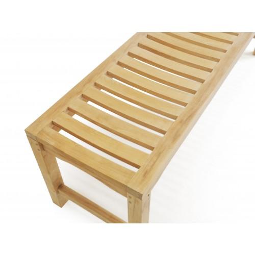 Groovy 59 Oxford Teak Backless Bench 3 Seater W Contoured Seat Creativecarmelina Interior Chair Design Creativecarmelinacom