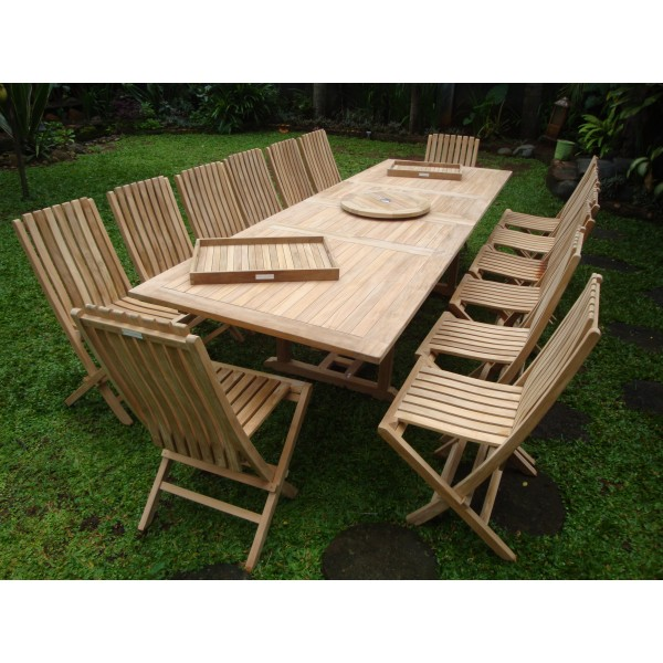 """Buckingham 118"""" x 39"""" Rectangular Double Leaf Extension Table...Seats 14...makes 3 Different Size Tables"""