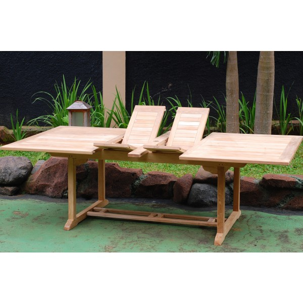 "Buckingham 118"" x 39"" Rectangular Double Leaf Extension Table...Seats 14...makes 3 Different Size Tables"